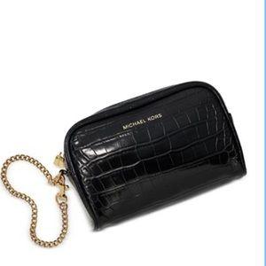 Michael Kors Croc embossed Toiletry bag/ purse